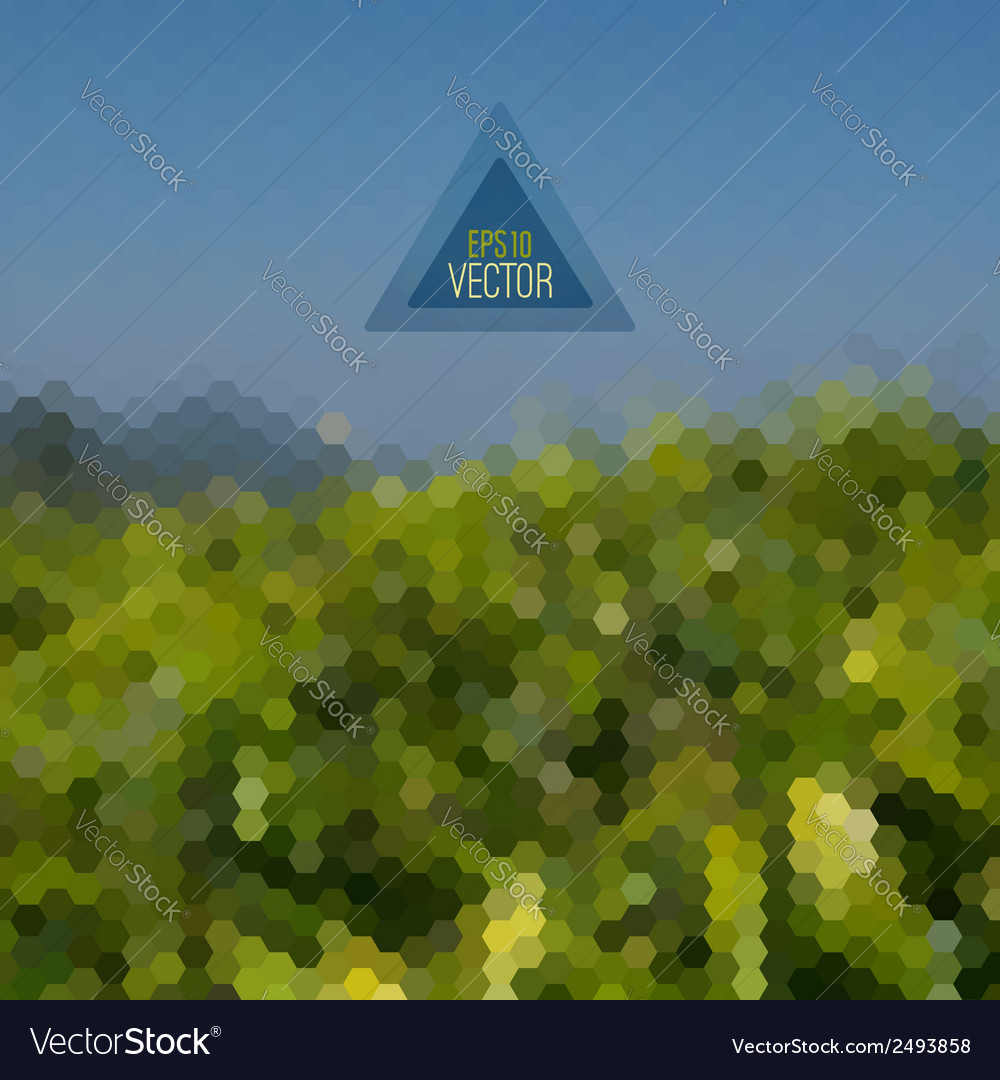 Retro landscape pattern of geometric shapes vector | Price: 1 Credit (USD $1)