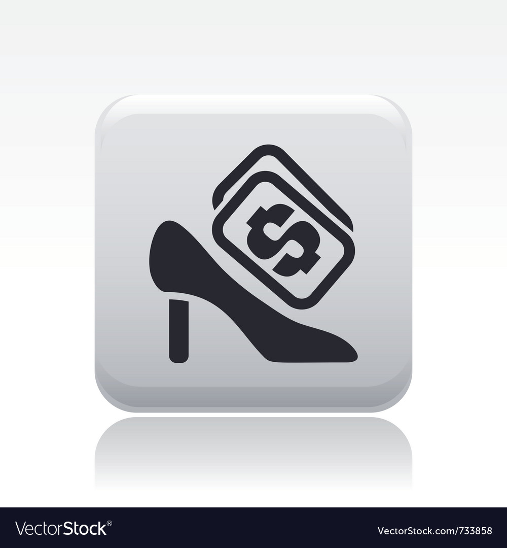 Shoe cost icon vector | Price: 1 Credit (USD $1)