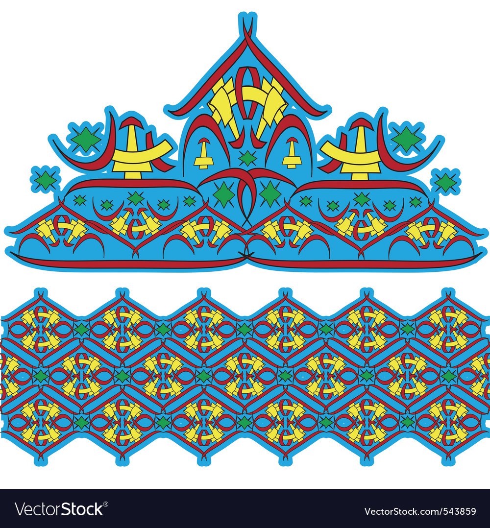 Asian culture patterns vector | Price: 1 Credit (USD $1)