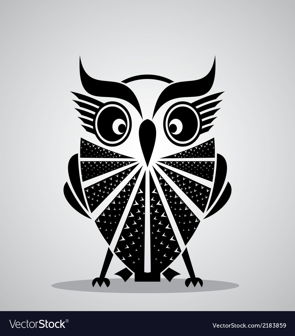 Black owl vector | Price: 1 Credit (USD $1)