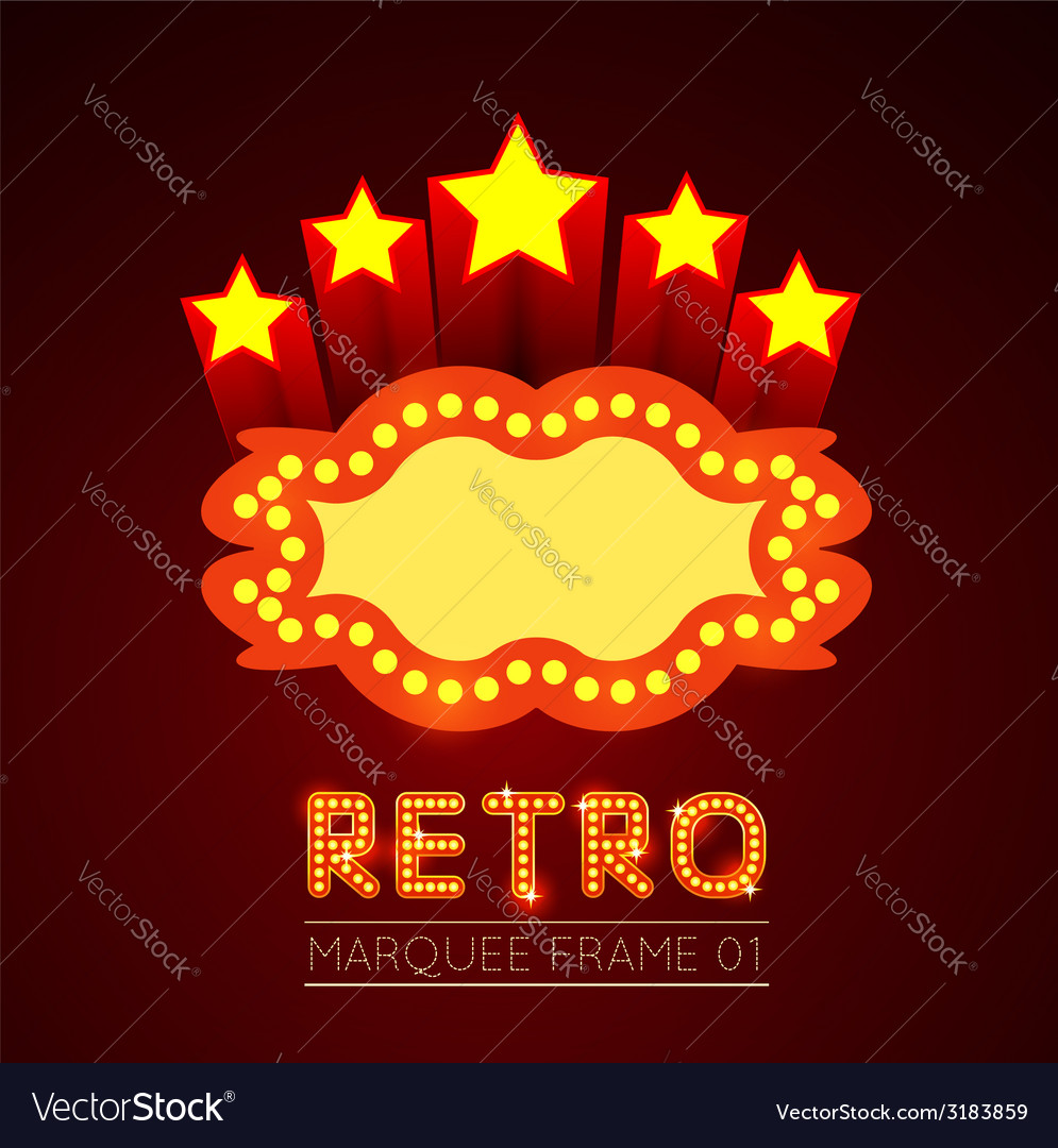 Blank movie theater or casino marquee vector | Price: 1 Credit (USD $1)