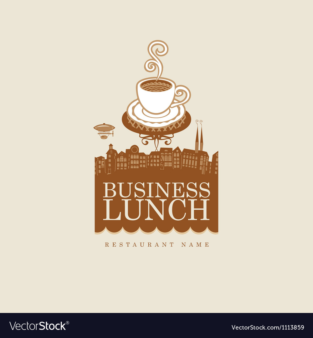Business lunch vector | Price: 1 Credit (USD $1)