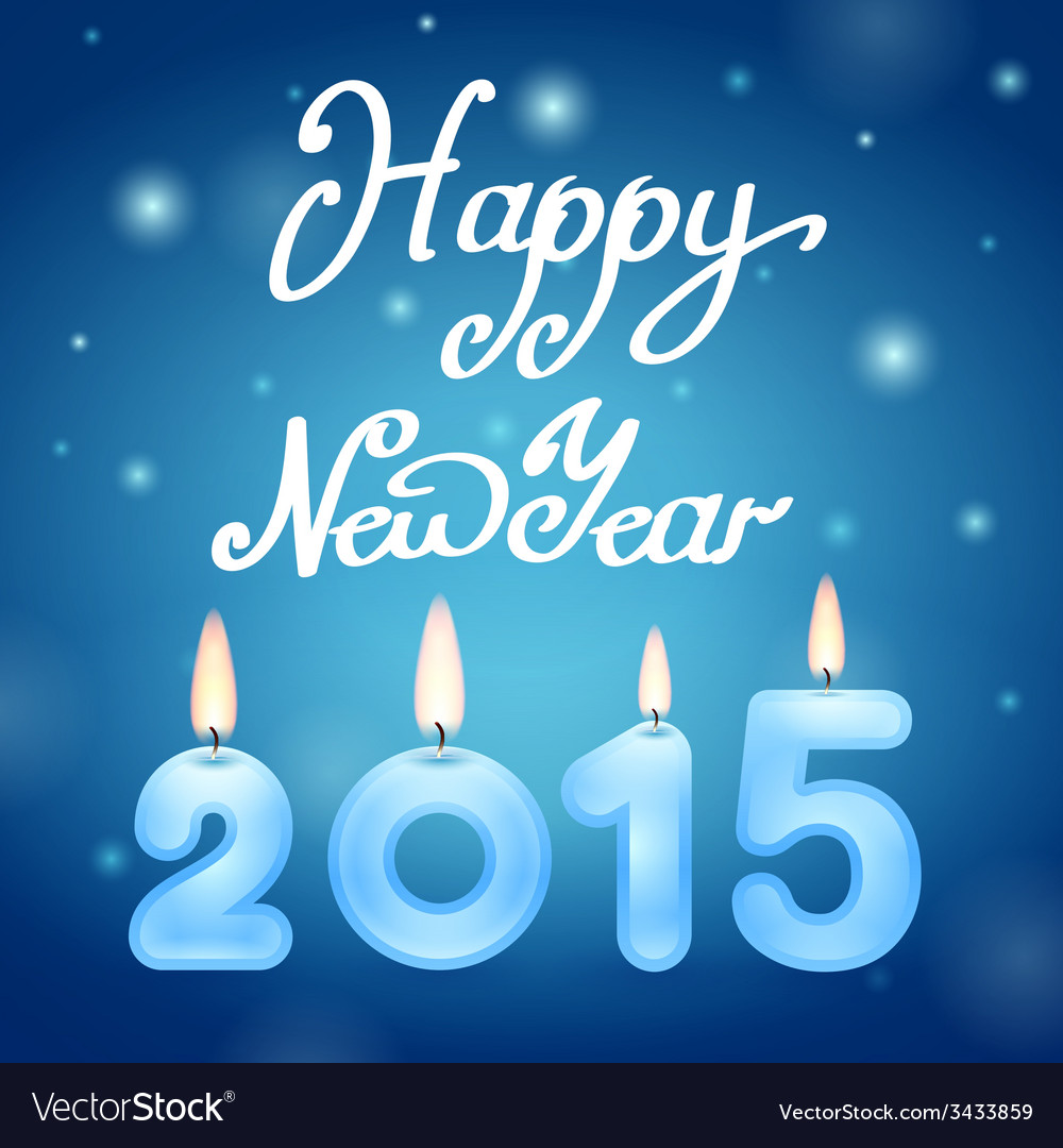 Candles 2015 happy new year vector | Price: 1 Credit (USD $1)