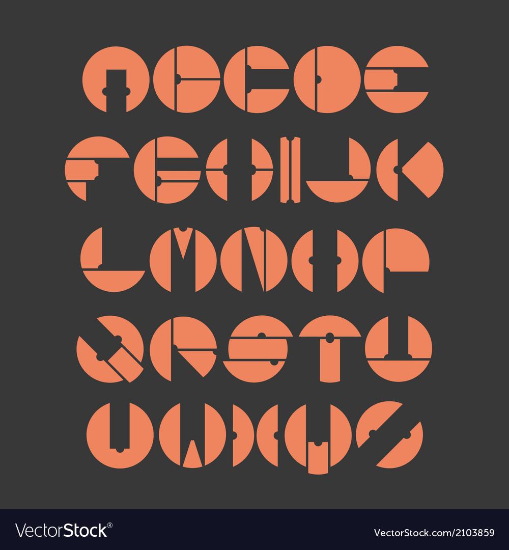Circle alphabetvecor eps10 vector | Price: 1 Credit (USD $1)