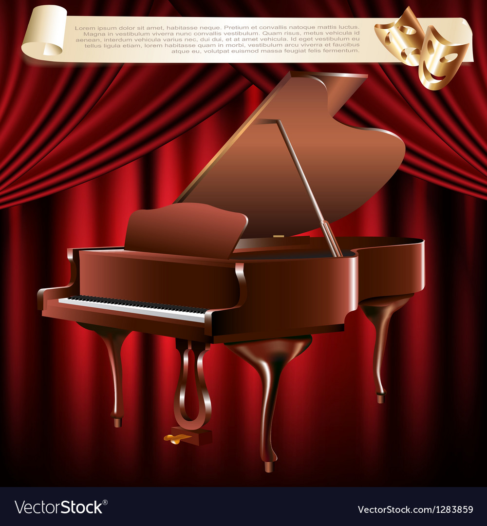 Classical grand piano vector | Price: 3 Credit (USD $3)