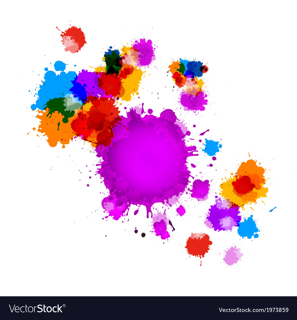 Colorful splashes abstract background vector | Price: 1 Credit (USD $1)