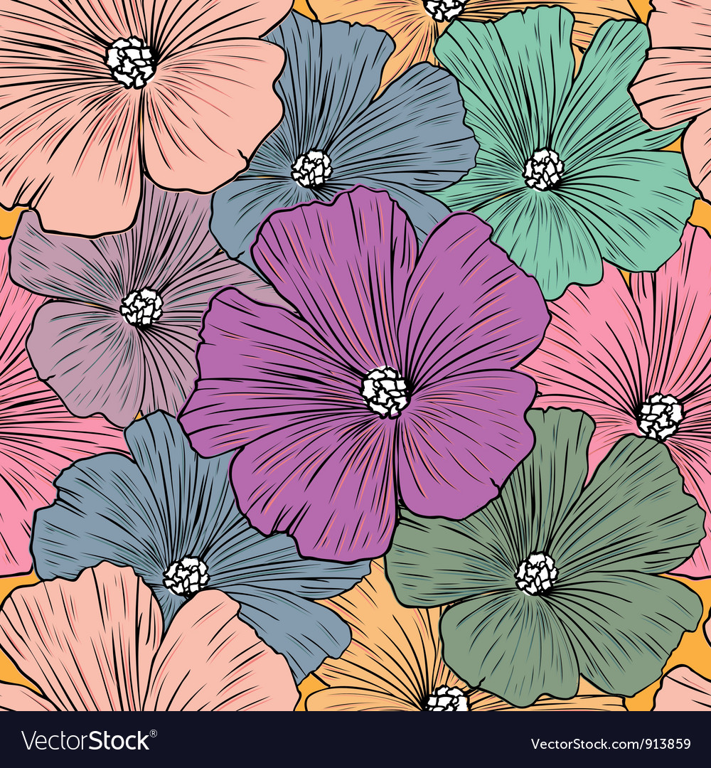 Decoration vintage element floral style seamless vector | Price: 1 Credit (USD $1)
