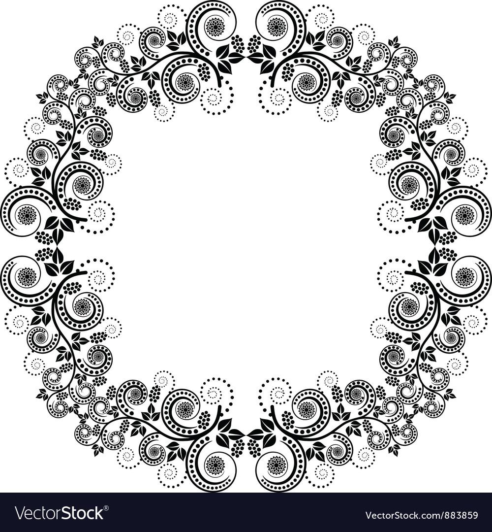 Decorative square frame vector | Price: 1 Credit (USD $1)