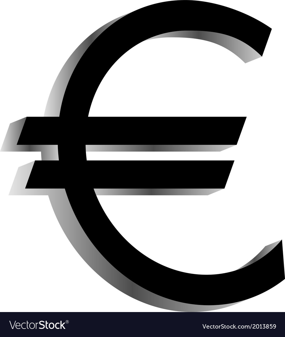 Euro icon vector | Price: 1 Credit (USD $1)