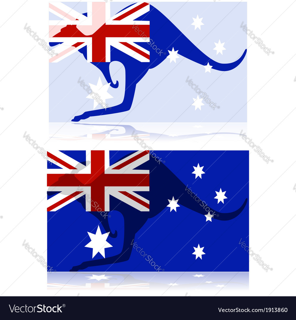 Australian kangaroo vector | Price: 1 Credit (USD $1)