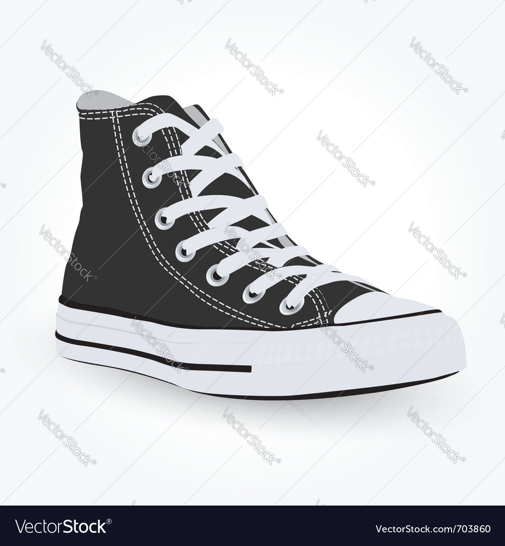 Black sneaker vector | Price: 3 Credit (USD $3)