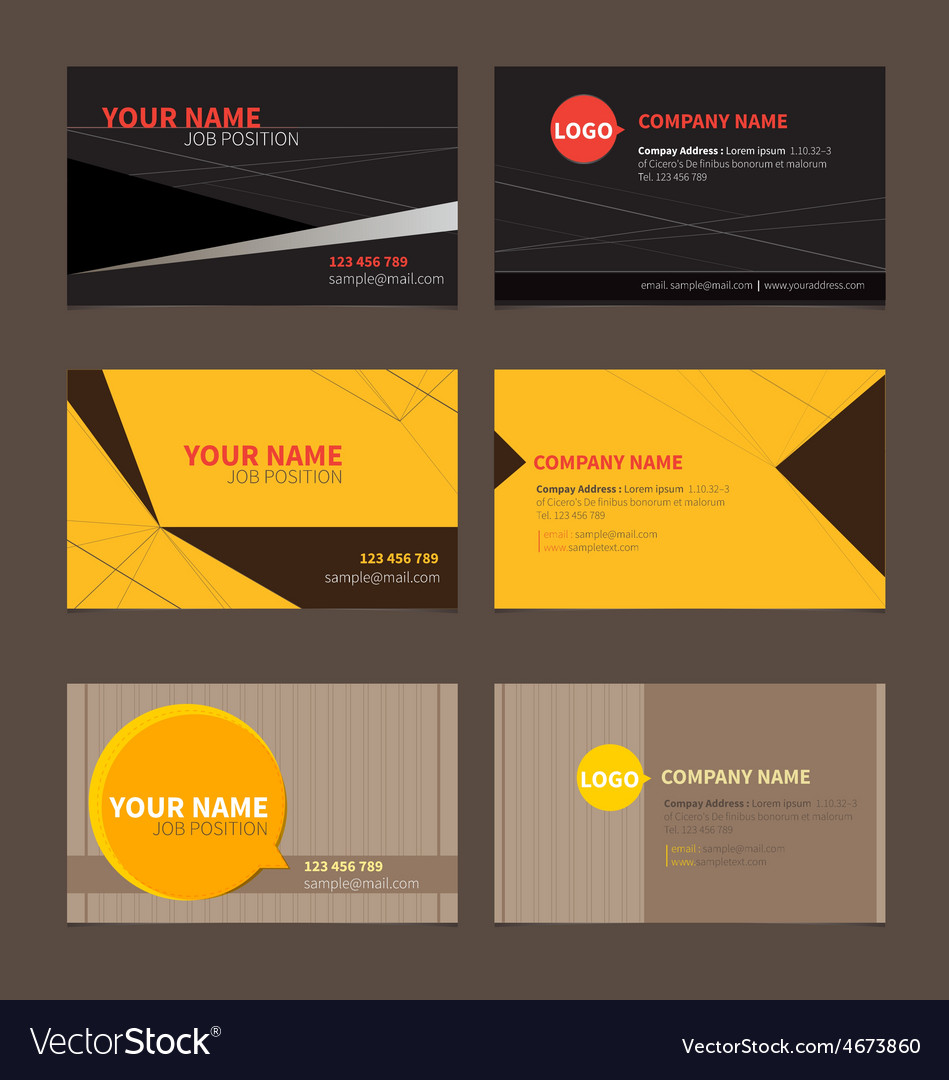 Business name card set 2 vector | Price: 1 Credit (USD $1)