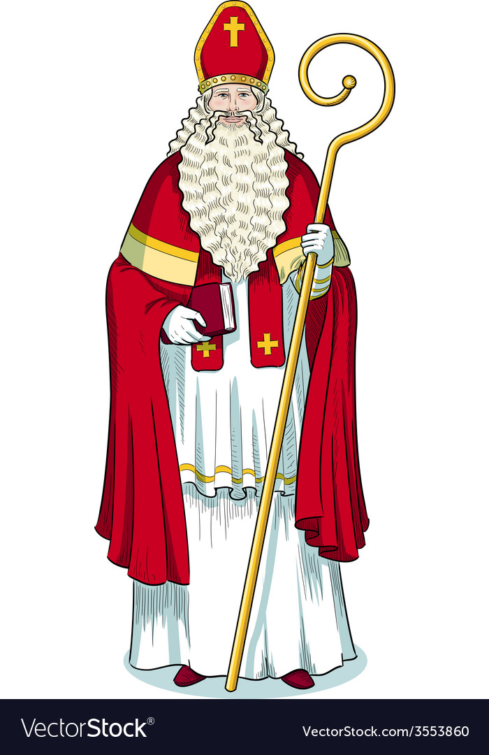 Christmas character sinterklaas colored vector | Price: 1 Credit (USD $1)