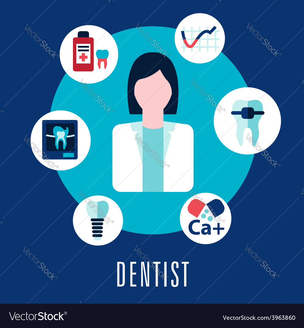 Dentist and dentistry concept vector | Price: 1 Credit (USD $1)