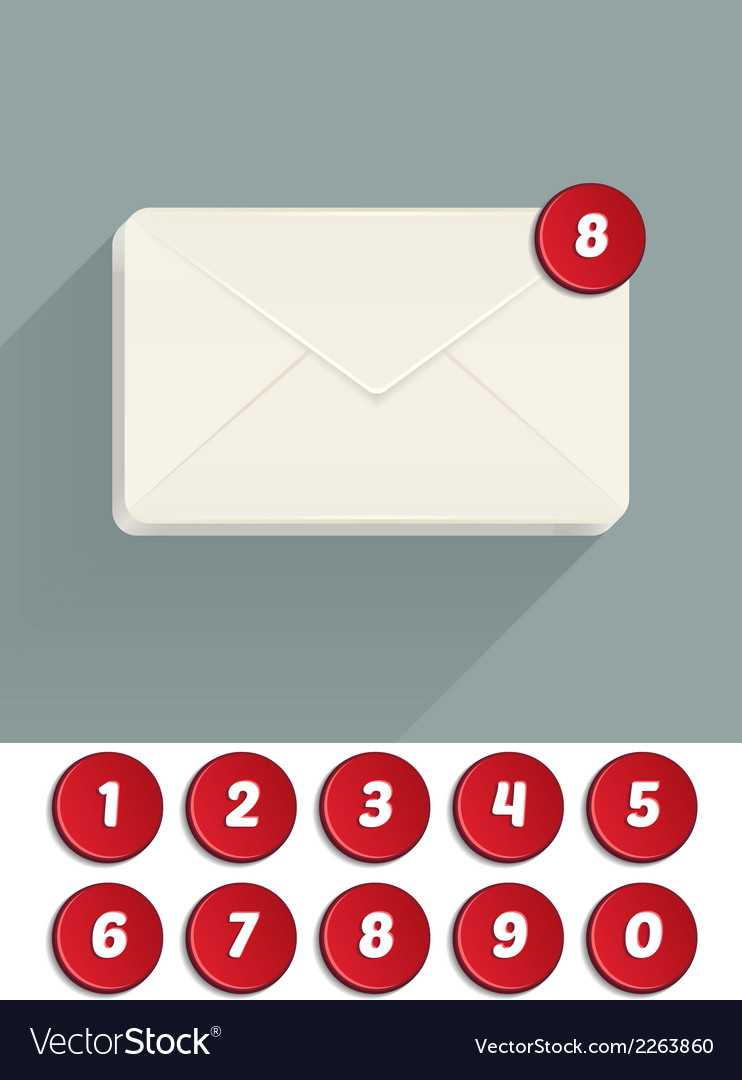 Envelope mail icon vector | Price: 1 Credit (USD $1)