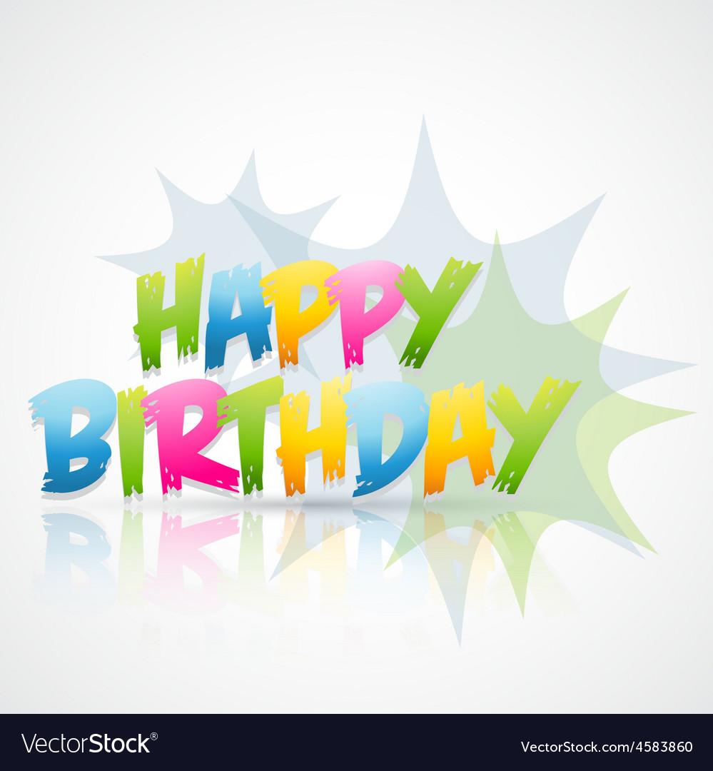 Happy birthday card with blast vector | Price: 1 Credit (USD $1)