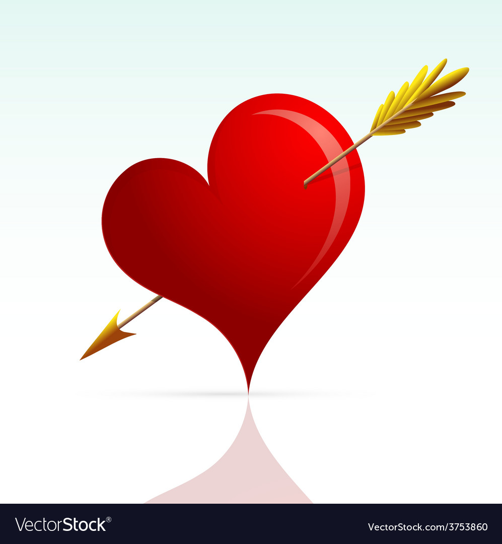 Heart shape with arrow vector | Price: 1 Credit (USD $1)