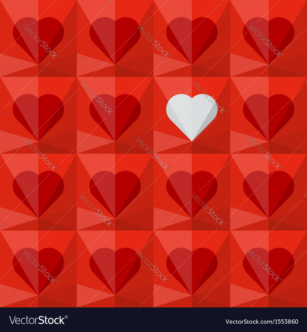 Red crystal hearts with one different vector | Price: 1 Credit (USD $1)