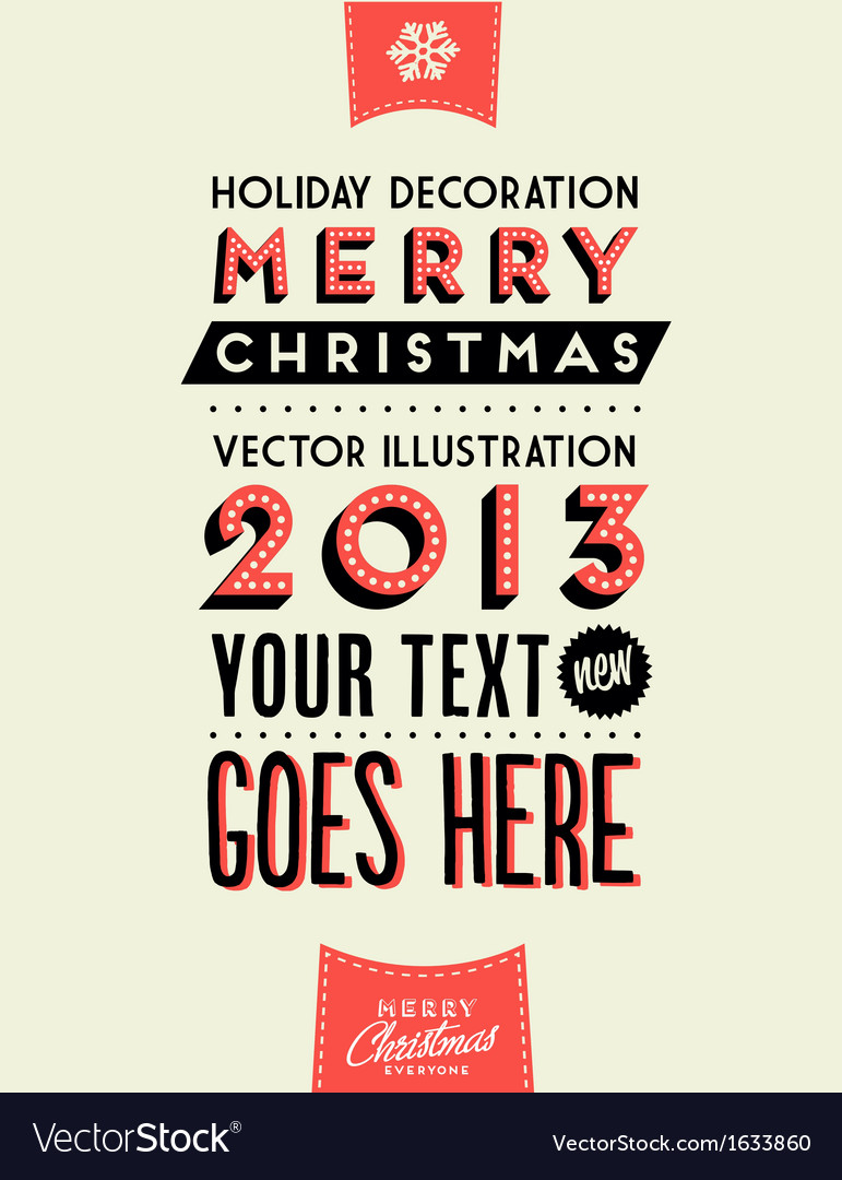 Retro vintage merry christmas tin sign vector | Price: 1 Credit (USD $1)