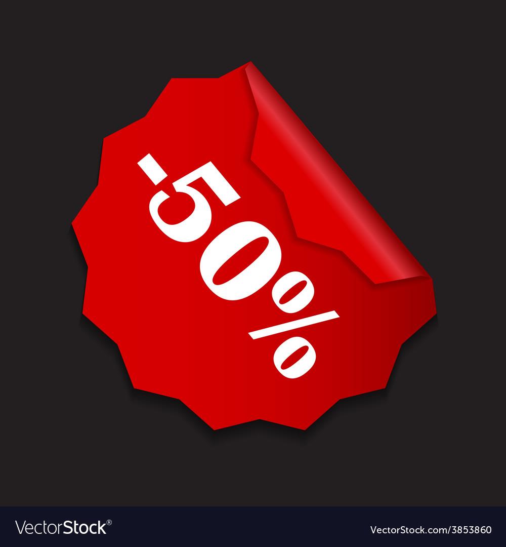 Sale sticker banner template vector | Price: 1 Credit (USD $1)
