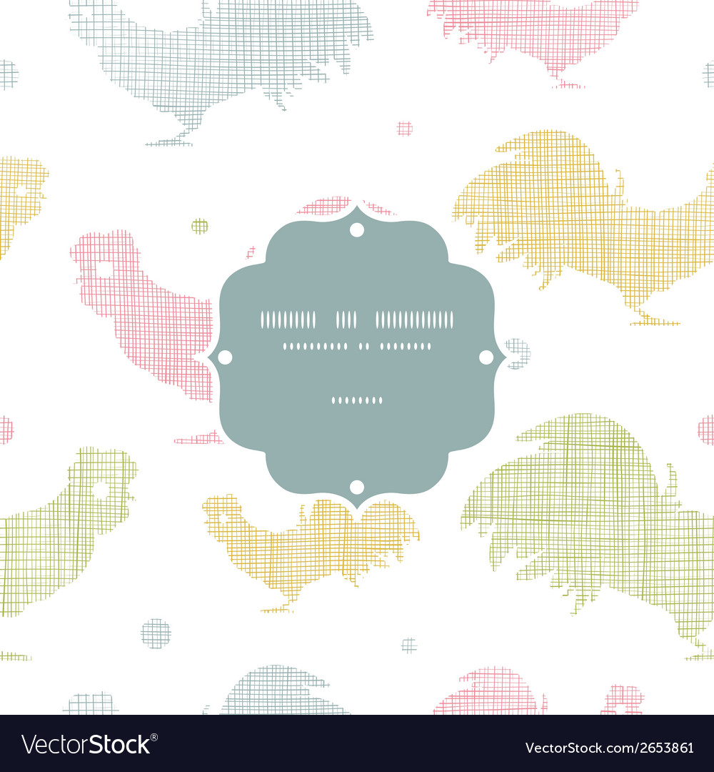 Abstract textile roosters frame seamless pattern vector | Price: 1 Credit (USD $1)