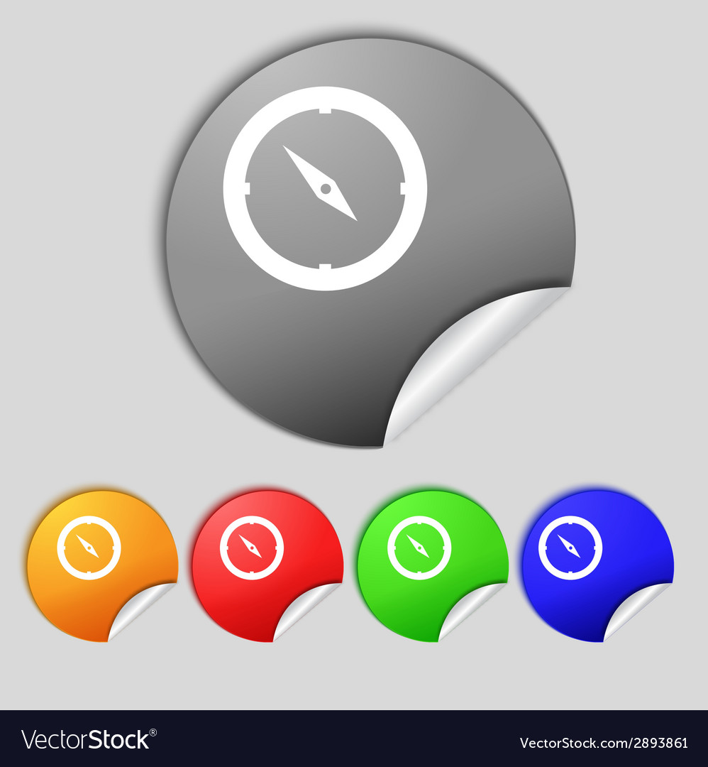 Compass sign icon windrose navigation symbol set vector   Price: 1 Credit (USD $1)