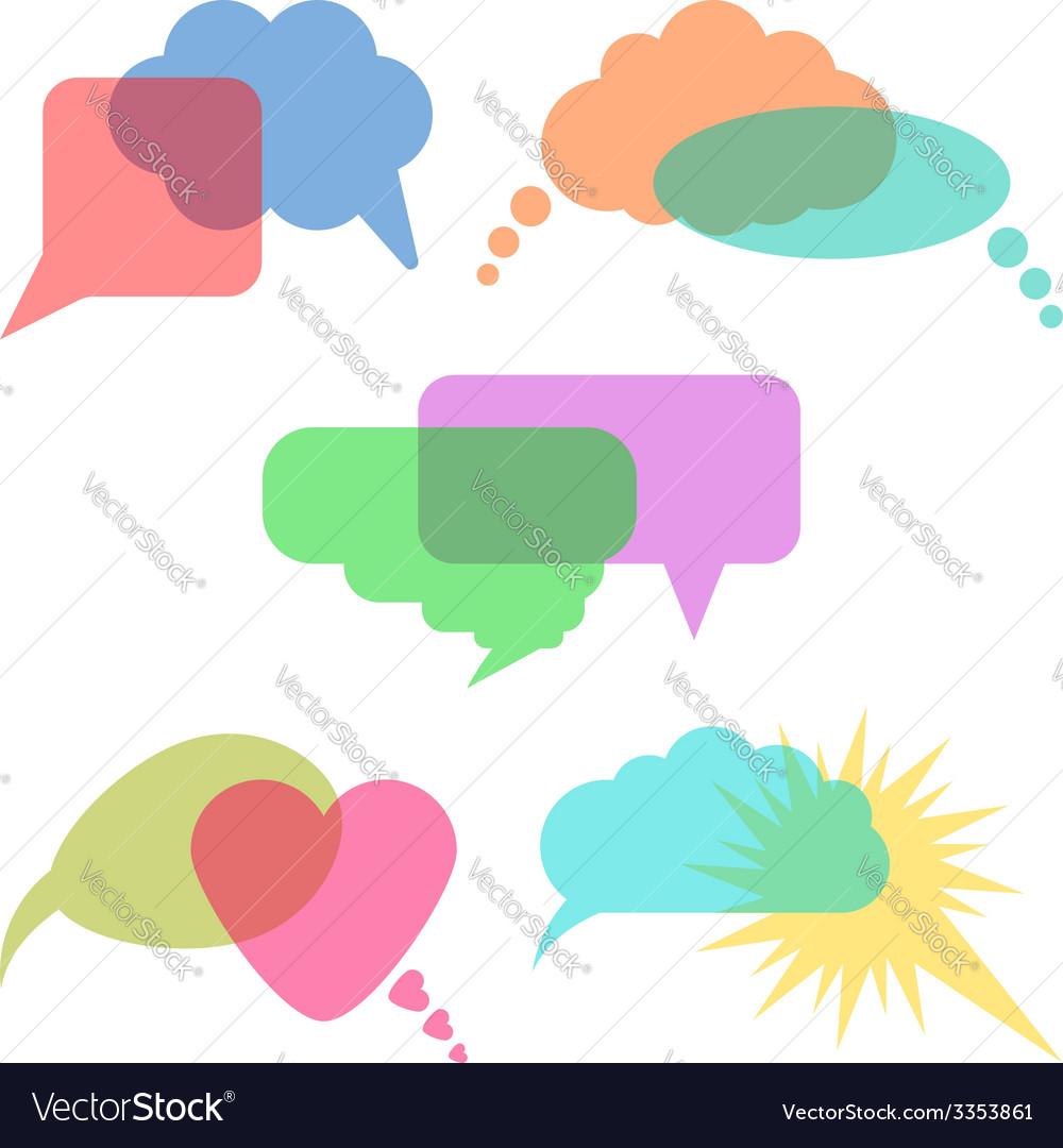 Concept of communication transparent speech vector | Price: 1 Credit (USD $1)