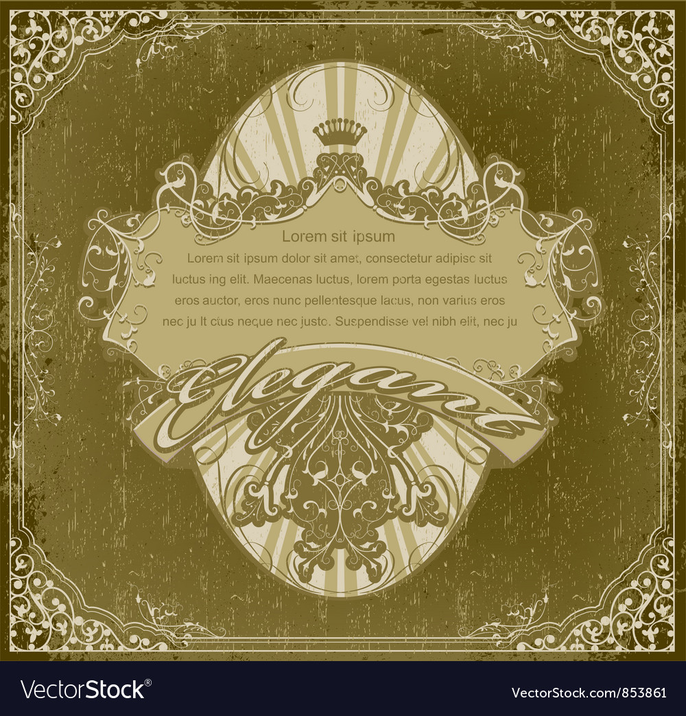 Grunge vintage label vector | Price: 1 Credit (USD $1)