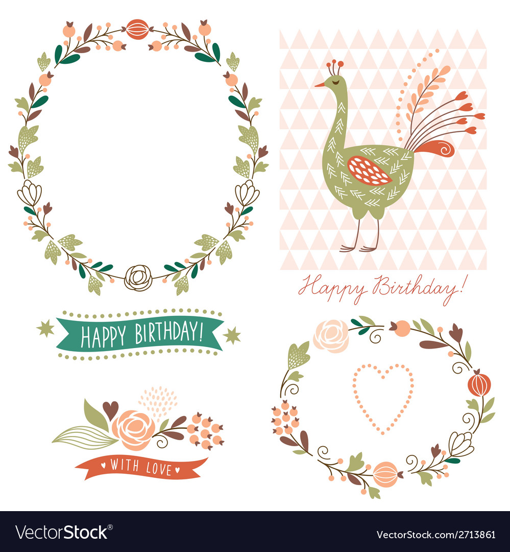 Holiday graphic elements collection vector | Price: 1 Credit (USD $1)