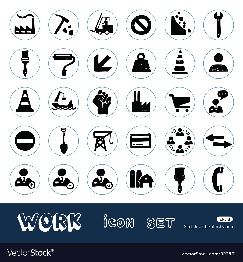 Industrial work and repair web icons set vector | Price: 1 Credit (USD $1)
