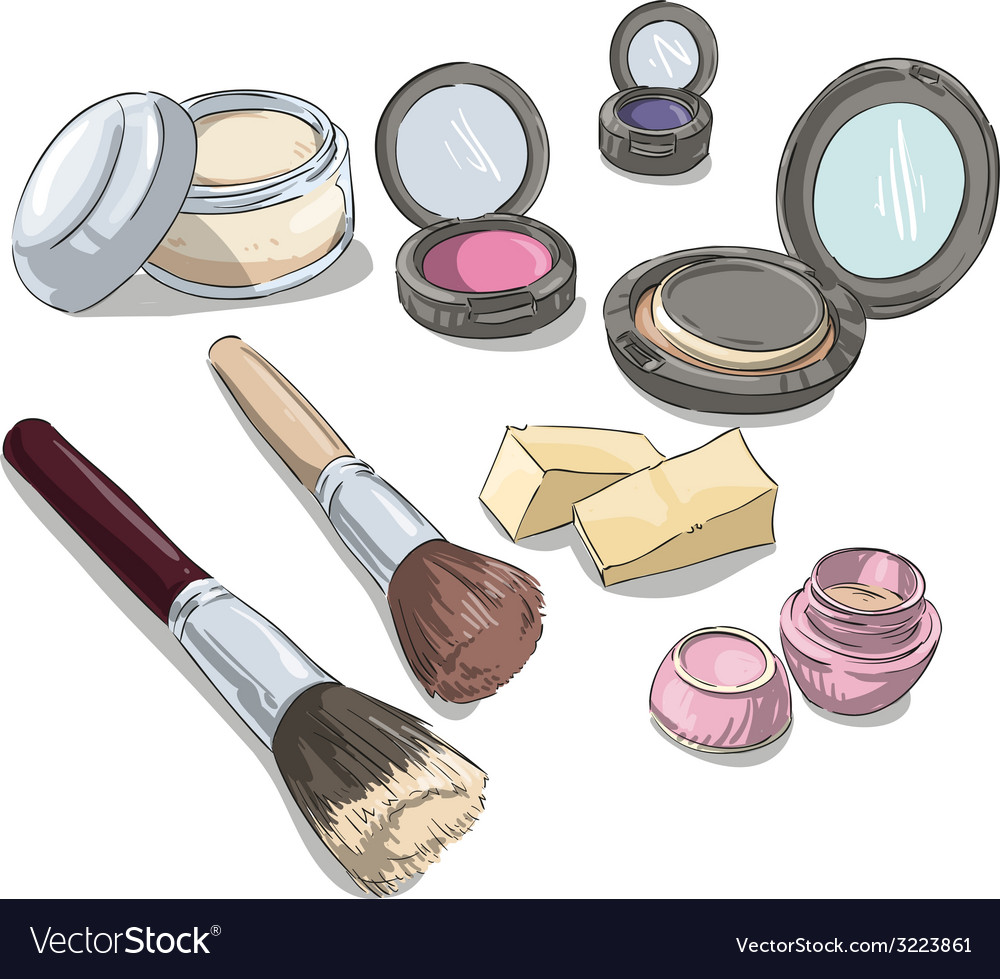Makeup products vector | Price: 1 Credit (USD $1)