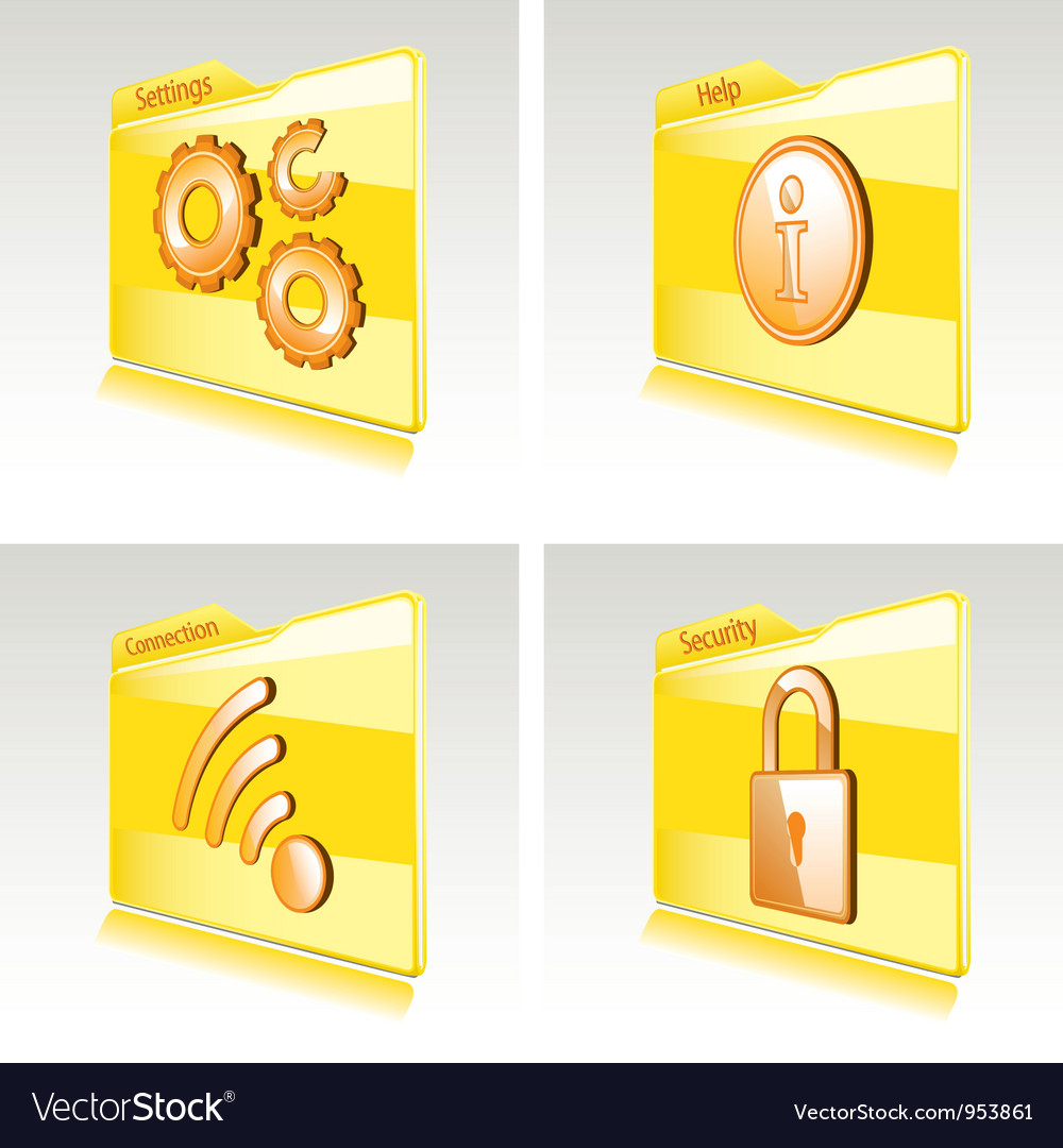 Set of folders vector | Price: 1 Credit (USD $1)