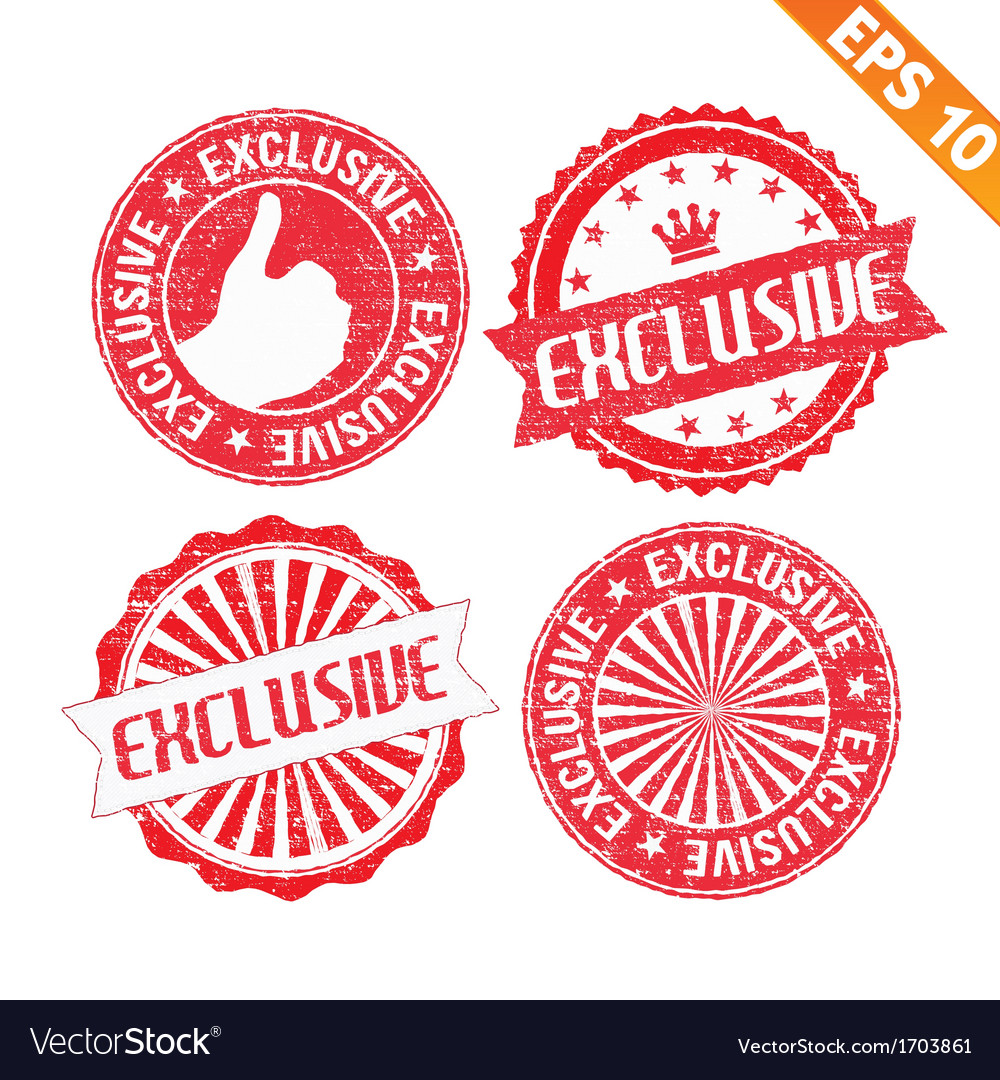 Stamp sticker exclusive collection - - eps1 vector | Price: 1 Credit (USD $1)