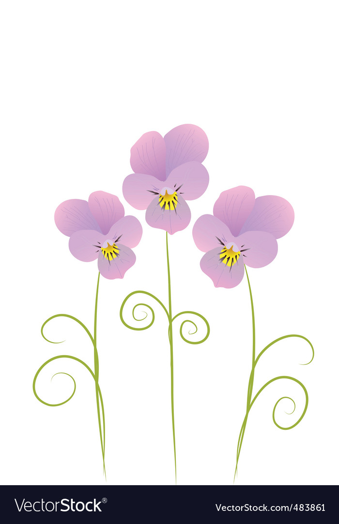 Three violet vector | Price: 1 Credit (USD $1)