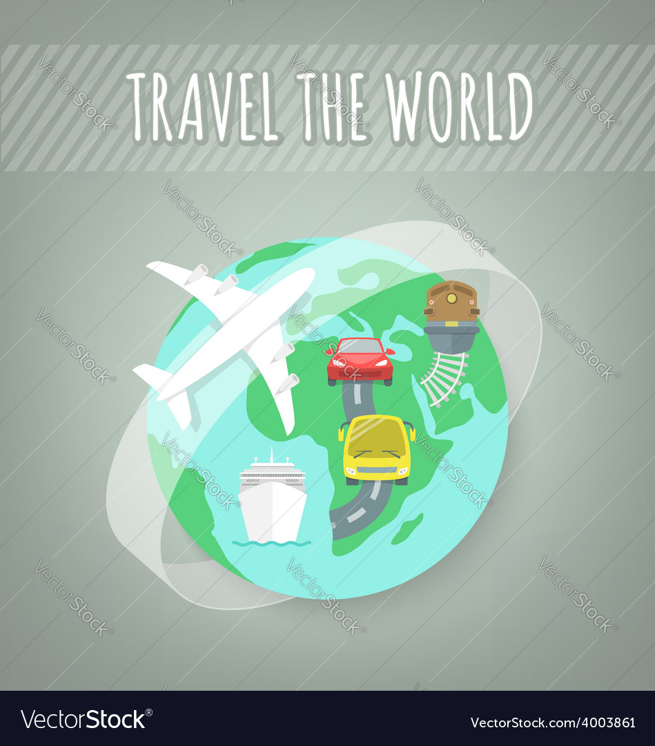 Travel transport concept vector | Price: 1 Credit (USD $1)