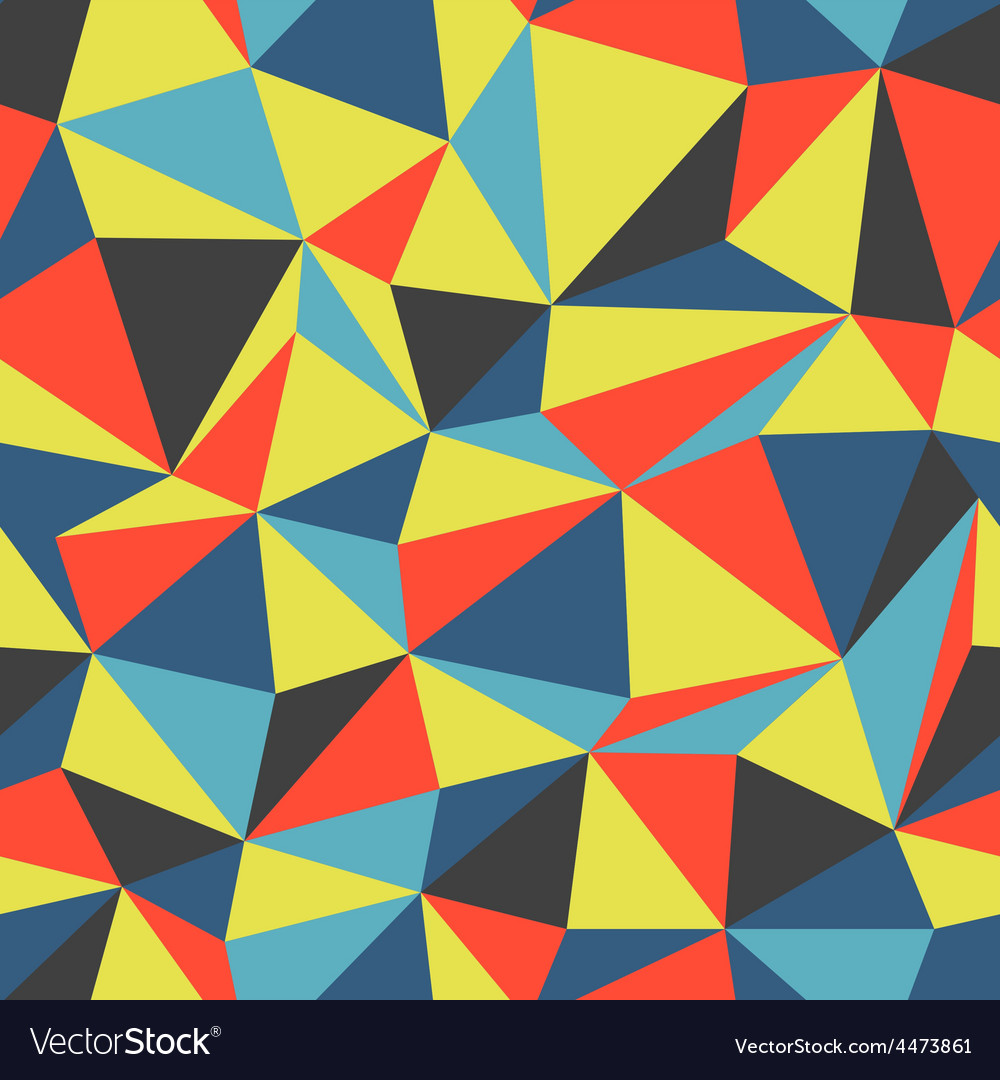Triangle colorful pattern seamless vector | Price: 1 Credit (USD $1)