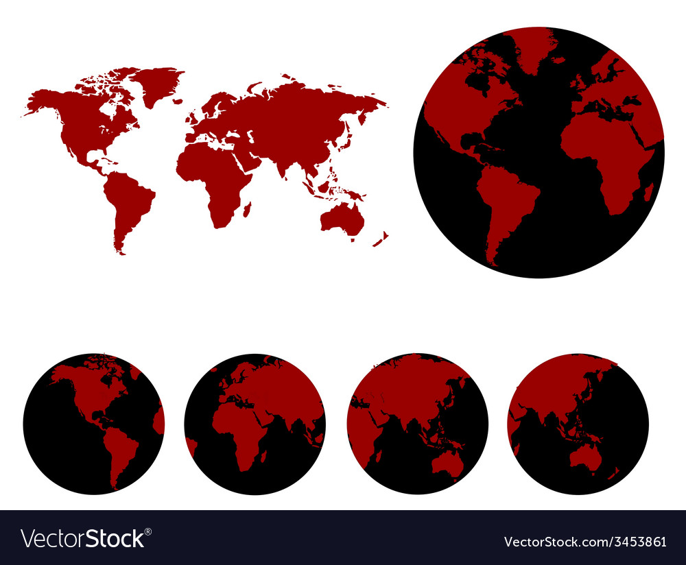 World map design vector   Price: 1 Credit (USD $1)