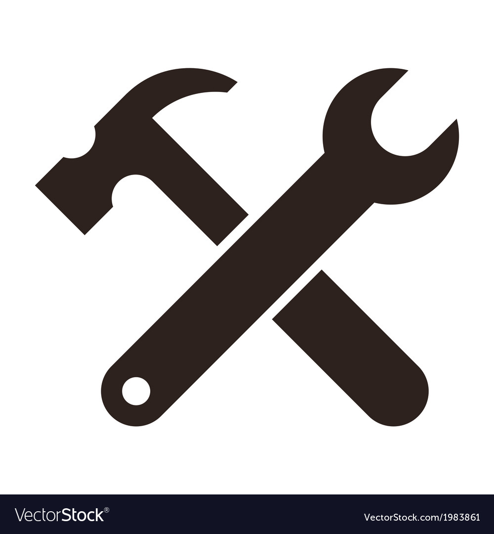 Wrench and hammer tools icon vector | Price: 1 Credit (USD $1)