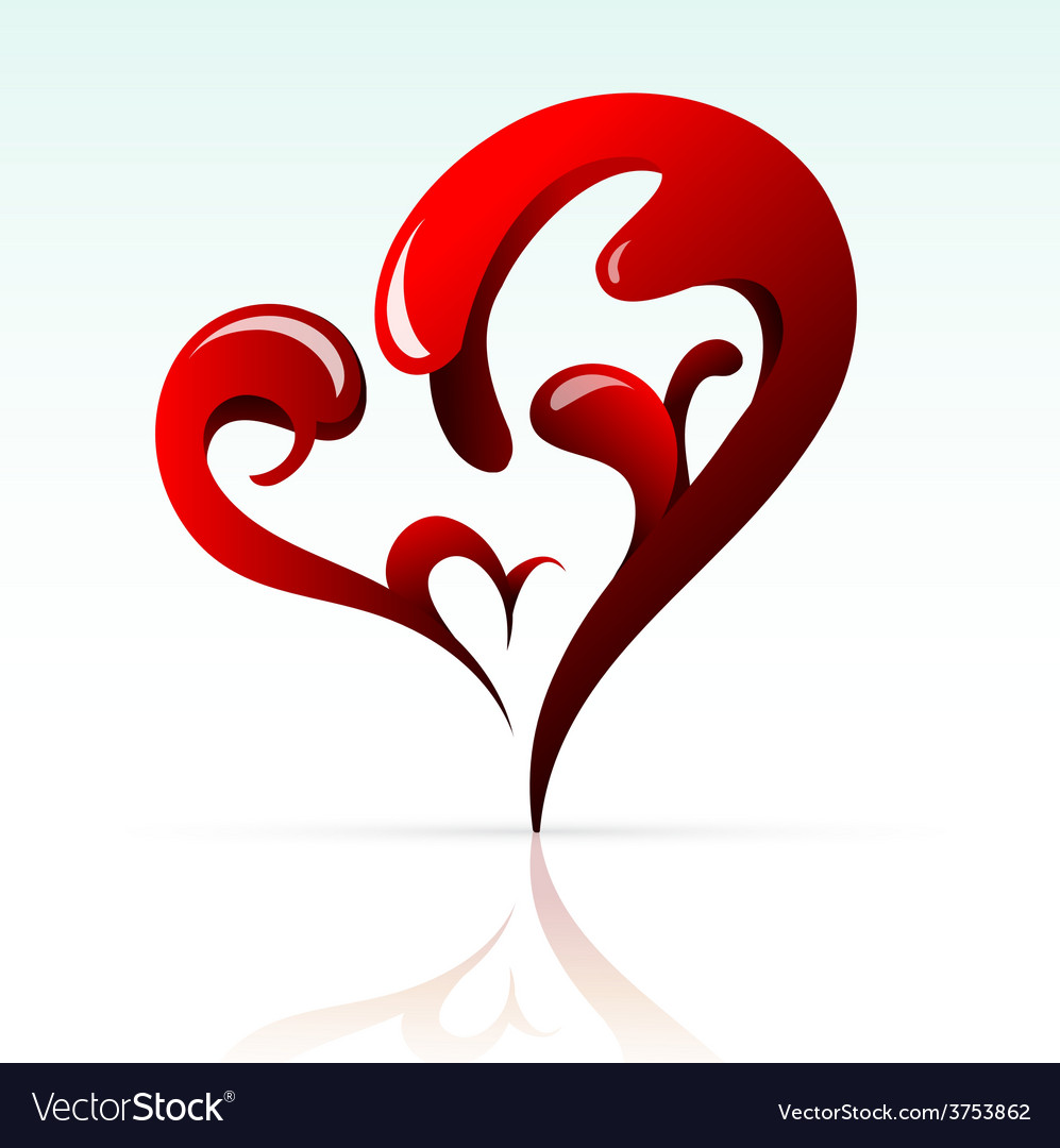 Artistic heart shape as design element vector | Price: 1 Credit (USD $1)