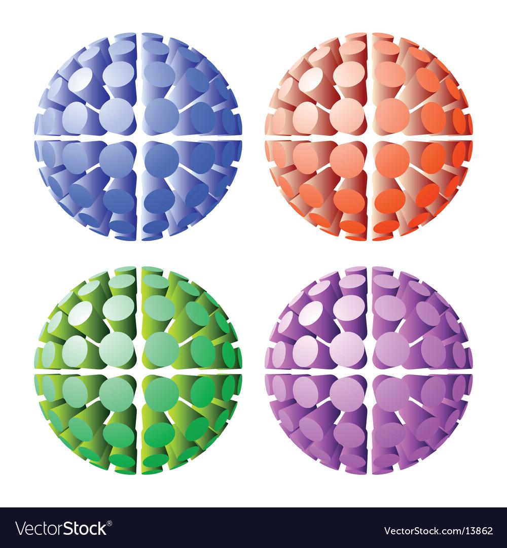 Futuristic spheres vector | Price: 1 Credit (USD $1)