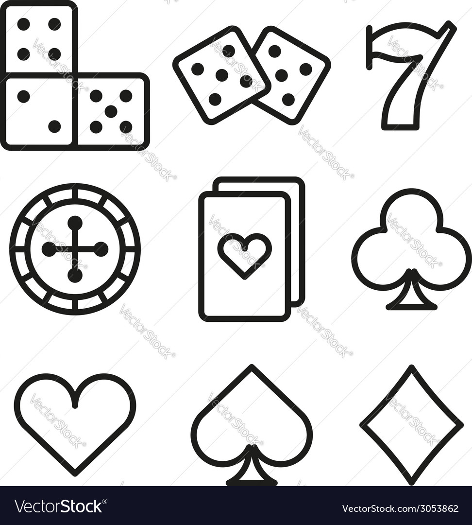 Gambling icons vector | Price: 1 Credit (USD $1)