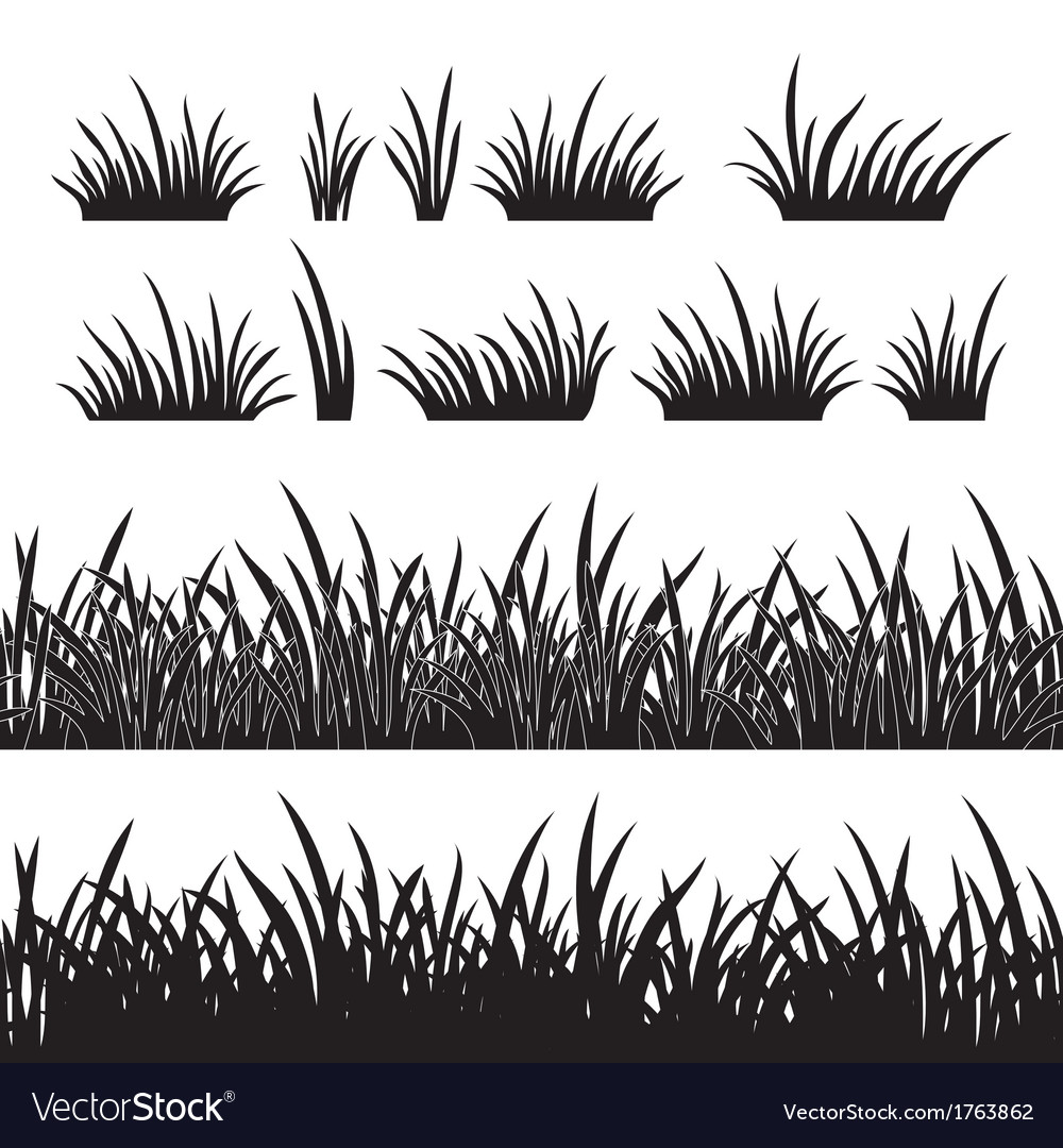 Grass silhouette seamless vector | Price: 1 Credit (USD $1)