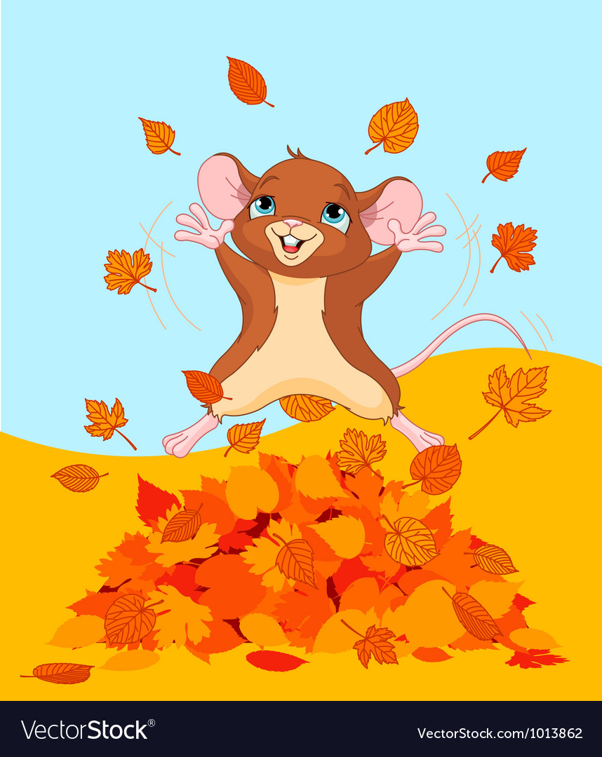 Happy fall mouse vector | Price: 3 Credit (USD $3)