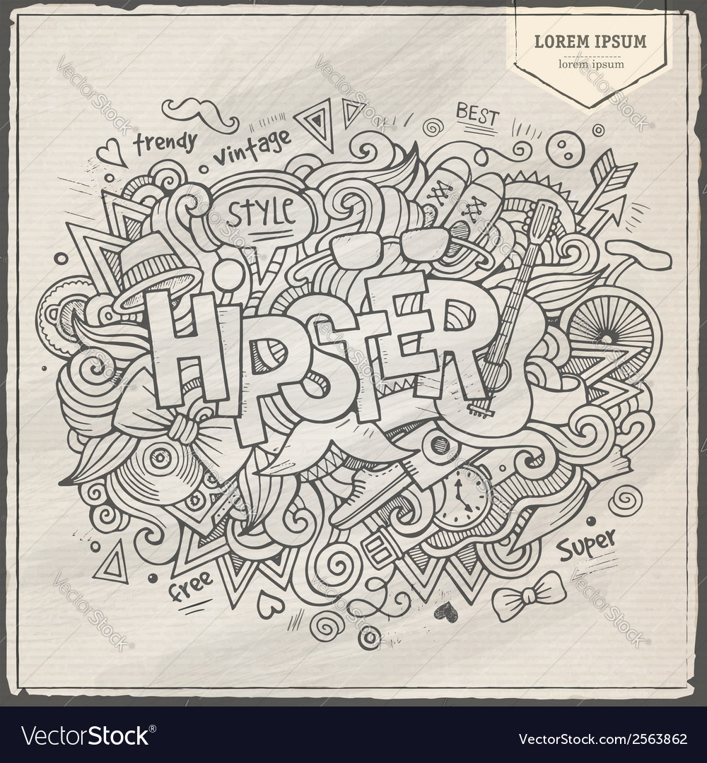 Hipster hand lettering and doodles elements vector   Price: 1 Credit (USD $1)