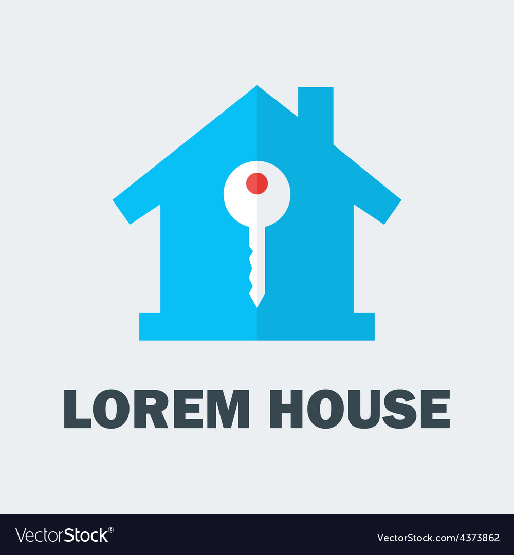 House with key logo vector | Price: 1 Credit (USD $1)