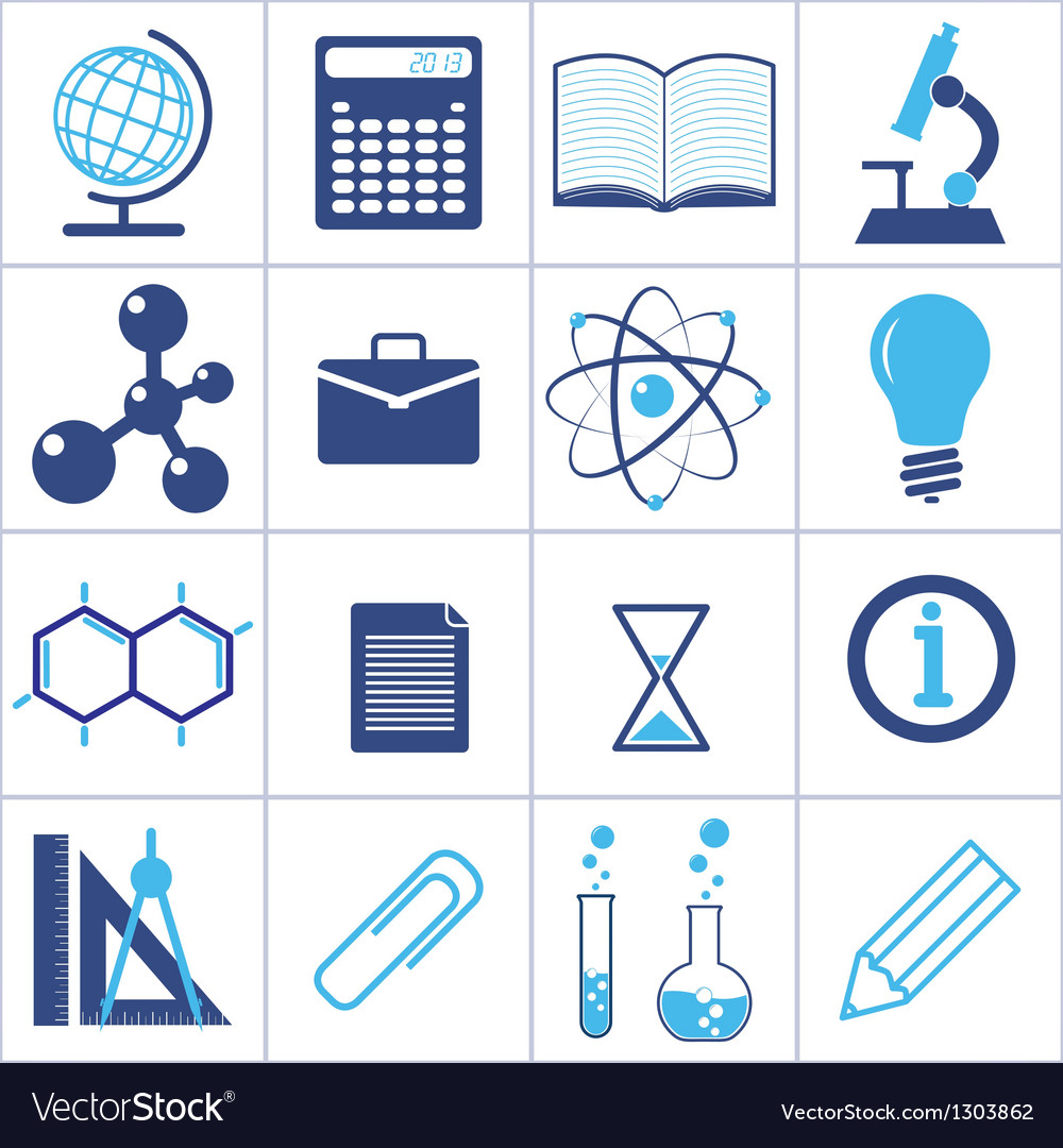 Icons of a science and education vector | Price: 1 Credit (USD $1)