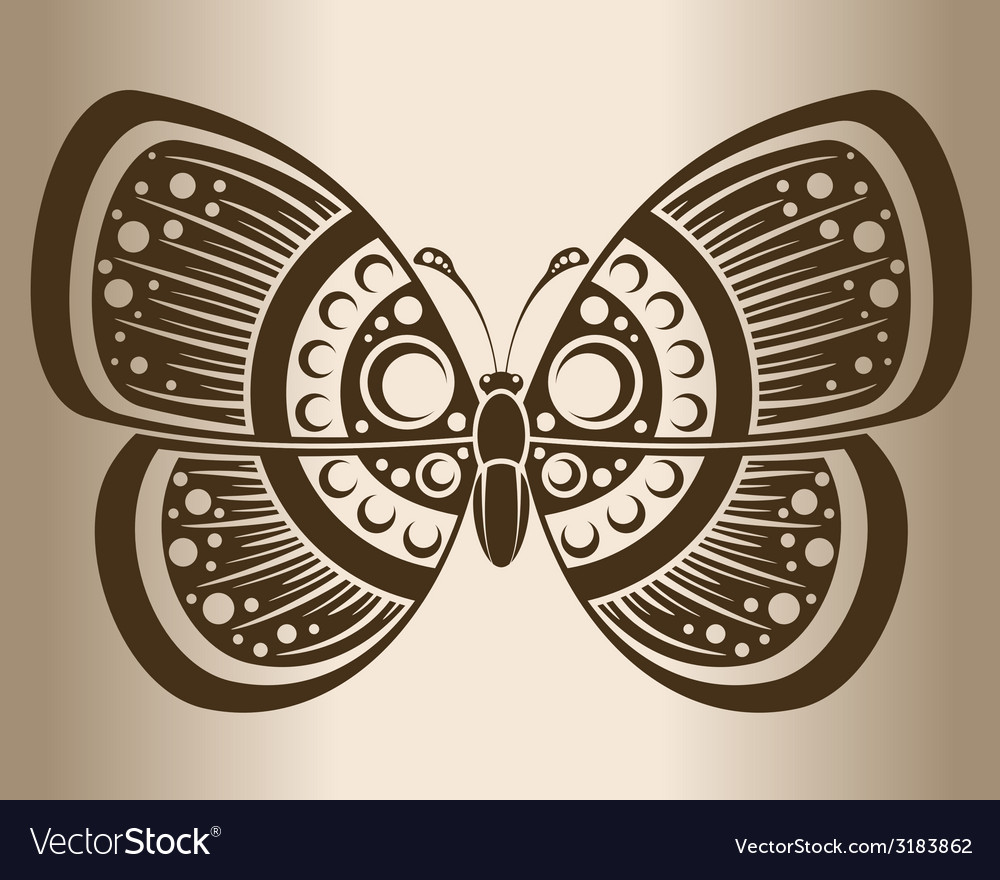 Monochrome butterfly vector | Price: 1 Credit (USD $1)