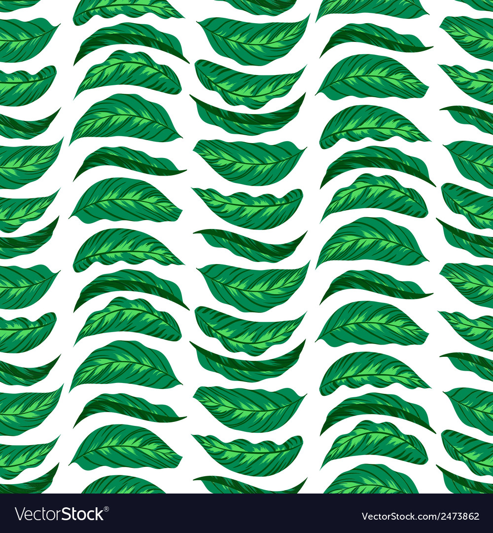 Pattern with bright green husta leaves vector | Price: 1 Credit (USD $1)