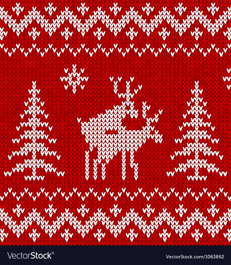 Sweater with deer vector | Price: 1 Credit (USD $1)