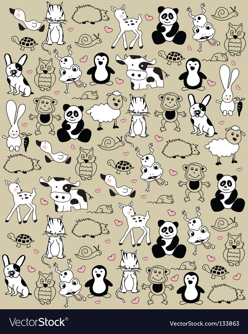 Animals vector | Price: 1 Credit (USD $1)